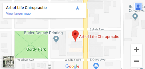 Map of EL Dorado KS Chiropractors